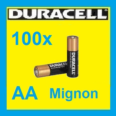 100x mignon aa mn1500 lr06 duracell industrial batterie lose oem ebay. Black Bedroom Furniture Sets. Home Design Ideas