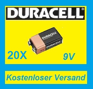 20x duracell oem batterie 9v block 6lr61 mn1604 9v 9 v 9volt 580mah 9 volt block ebay. Black Bedroom Furniture Sets. Home Design Ideas