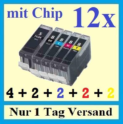 12x-Drucker-Patrone-Tinte-fuer-Canon-PIXMA-MP520-IP4500-IP5200-IP4200-4300-IP3500